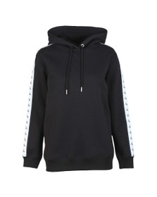 Calvin Klein Jeans Womens Black Relaxed Logo Tape Hoody