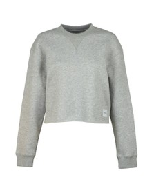 Calvin Klein Jeans Womens Grey Raw Hem Crew Neck Sweatshirt