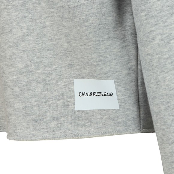 Calvin Klein Jeans Womens Grey Raw Hem Crew Neck Sweatshirt main image
