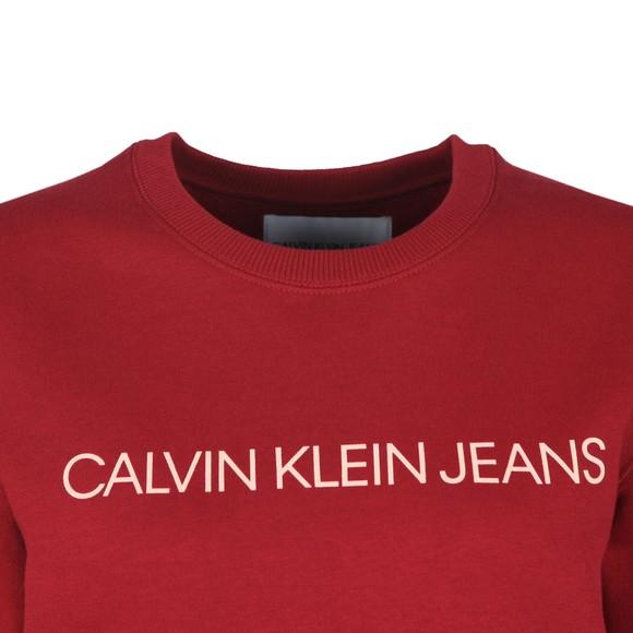 Calvin Klein Jeans Womens Red Large Logo Sweatshirt main image