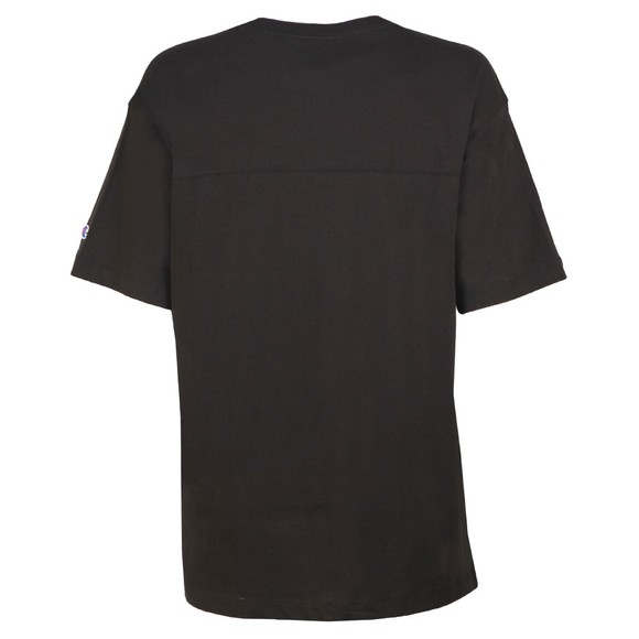Champion Reverse Weave Womens Black Small Script Logo T Shirt main image