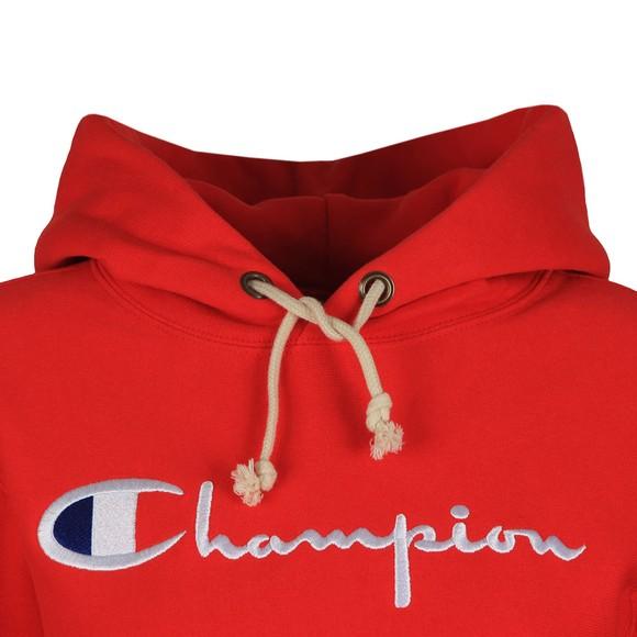 Champion Reverse Weave Womens Red Script Logo Overhead Hoody main image