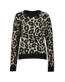 Superdry Womens Brown Lisa Leopard Jumper