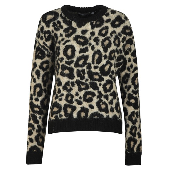 Superdry Womens Brown Lisa Leopard Jumper main image