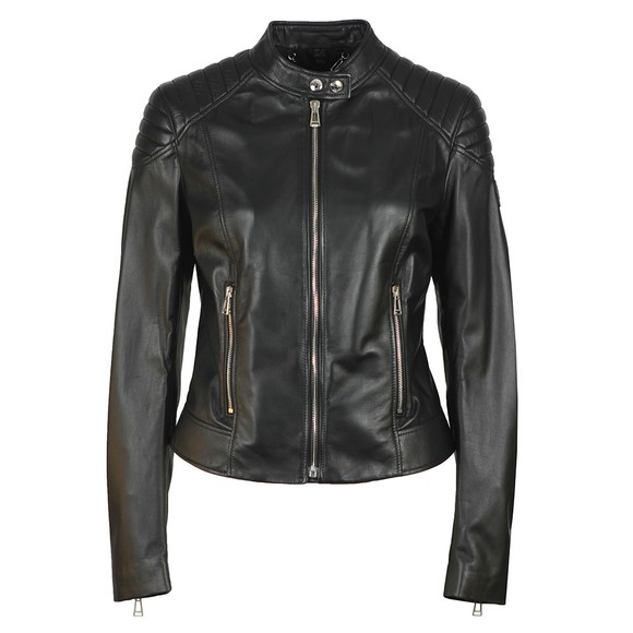 Belstaff Womens Black Mollison Leather Jacket
