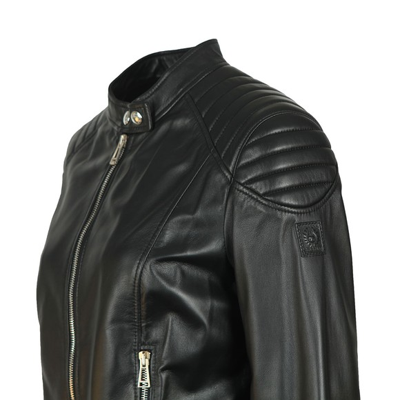Belstaff Womens Black Mollison Leather Jacket main image