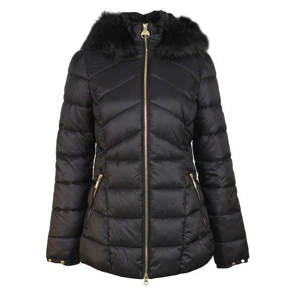 Barbour International Womens Black Hampton Quilt Jacket main image