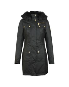 Barbour International Womens Black Ballacraine Wax Jacket