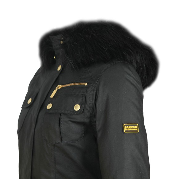 Barbour International Womens Black Ballacraine Wax Jacket main image