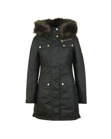 Barbour International Womens Green Ballacraine Wax Jacket