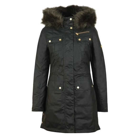 Barbour International Womens Green Ballacraine Wax Jacket main image
