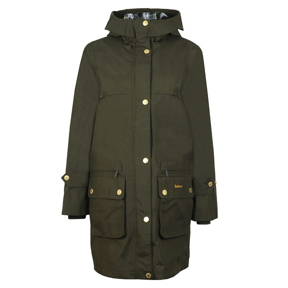 Barbour Icons Womens Green Durham Waterproof Breathable Jacket main image