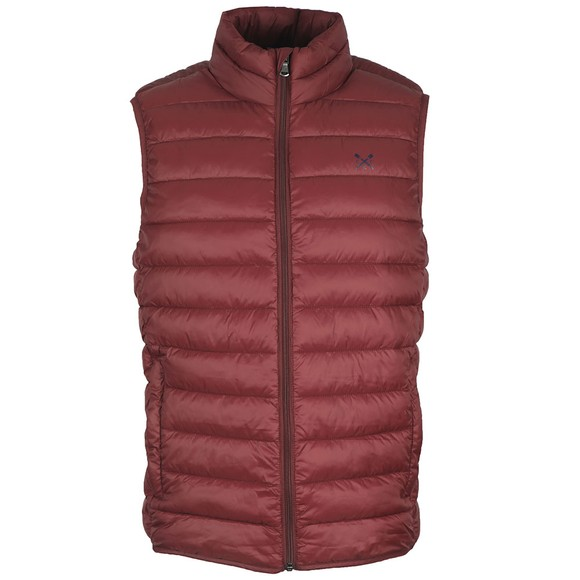 Crew Clothing Company Mens Purple Lightweight Gilet main image