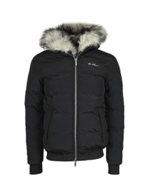 4BIDDEN Mens Black Rage Padded Jacket
