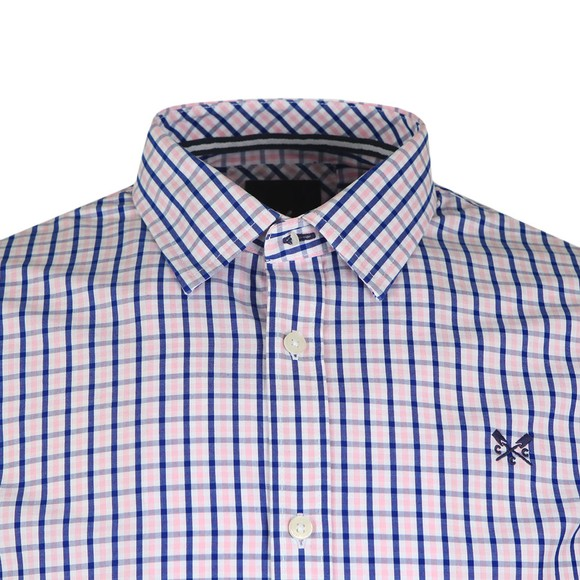 Crew Clothing Company Mens Pink Classic Tattersall Shirt