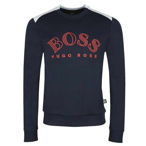 BOSS Mens Blue Athleisure Sablo Sweatshirt