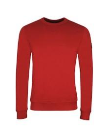 BOSS Mens Red Casual Walkup Sweatshirt
