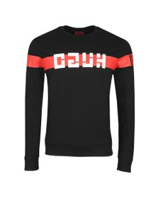 HUGO Mens Black Daar Sweatshirt