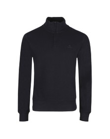 Gant Mens Blue Sacker Rib Half Zip