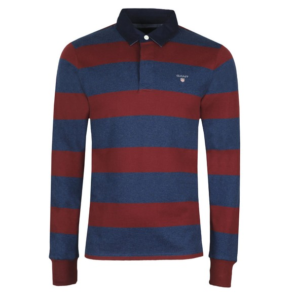 Gant Mens Red Original Barstripe Heavy Rugger Shirt main image