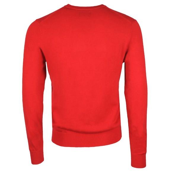Gant Mens Red Superfine Lambswool V-Neck Jumper main image