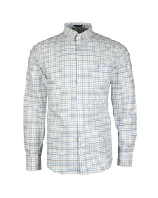 Gant Mens Blue Beefy Oxford Check Shirt