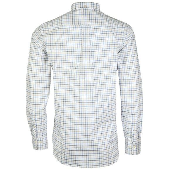 Gant Mens Blue Beefy Oxford Check Shirt main image