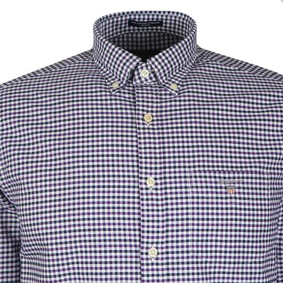 Gant Mens Purple Oxford 3 Col Gingham Shirt main image