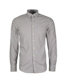 Gant Mens Brown Oxford 3 Col Gingham Shirt