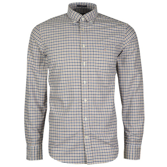 Gant Mens Brown Oxford 3 Col Gingham Shirt main image