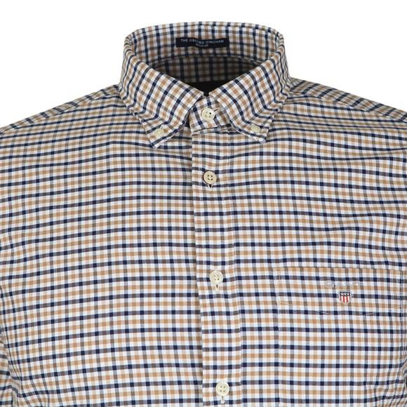 Gant Mens Brown Oxford 3 Col Gingham Shirt