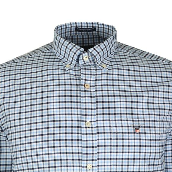 Gant Mens Blue Oxford 3 Col Gingham Shirt main image