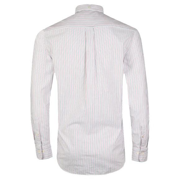 Gant Mens Red Oxford Banker Stripe Shirt main image