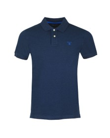 Gant Mens Blue Contrast Collar Polo
