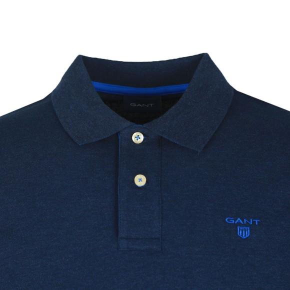 Gant Mens Blue Contrast Collar Polo main image
