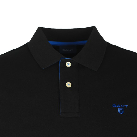 Gant Mens Black Contrast Collar Polo main image