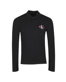 Calvin Klein Jeans Mens Black L/S Polo Shirt