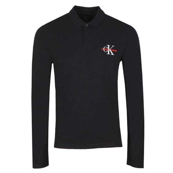 Calvin Klein Jeans Mens Black L/S Polo Shirt main image