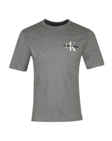 Calvin Klein Jeans Mens Grey Monogram Embro T-Shirt