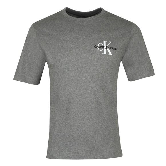 Calvin Klein Jeans Mens Grey Monogram Embro T-Shirt main image