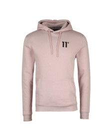 Eleven Degrees Mens Pink Core Pull Over Hoody