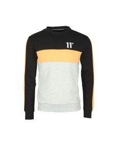 Eleven Degrees Mens Black Leon Sweatshirts