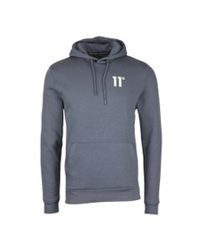Eleven Degrees Mens Grey Core Pull Over Hoody