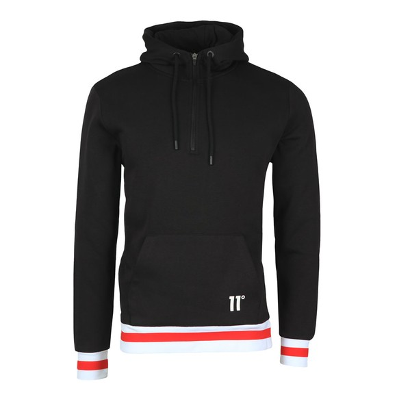 Eleven Degrees Mens Black Appolo Quarter Zip Hoody main image