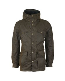Barbour Lifestyle Mens Green Coll Wax Jacket