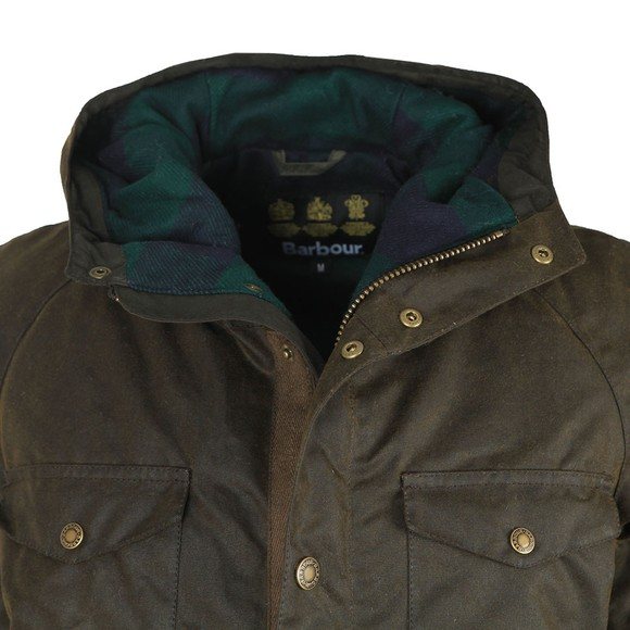 Barbour Lifestyle Mens Green Coll Wax Jacket main image