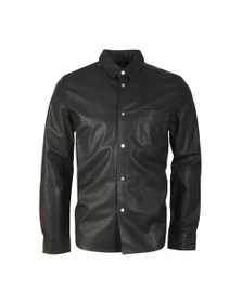 HUGO Mens Black Lorean Leather Shirt