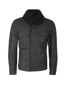 Belstaff Mens Black Patrol Jacket With Shearling