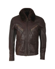 Belstaff Mens Brown Conner Jacket With Shearling Collar