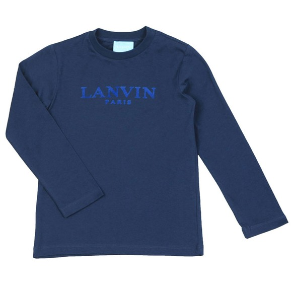 Lanvin Boys Blue Logo T Shirt